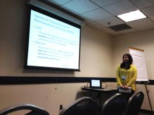 SIAPS Technical Associate Shirin Kakayeva presents at the 2015 Global Health Mini-University.