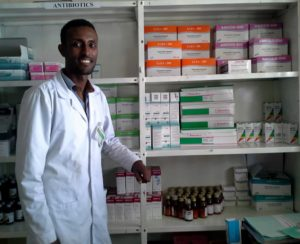 Dagnachew Hailemariam is the head pharmacist at Bishoftu General Hospital.