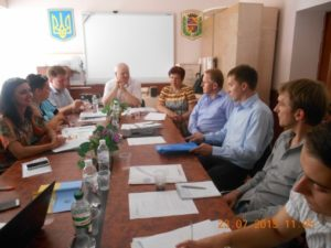 SIAPS team meets with Viktor Lysak, the head of the Poltava Region's Health Care Department