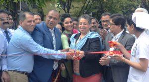 SIAPS-Bangladesh Country Project Director Zahedul Islam, Hospital Chairman Mizanur Rahman, and OPHNE Director Melissa Jones cut the ribbon at the inauguration ceremony.