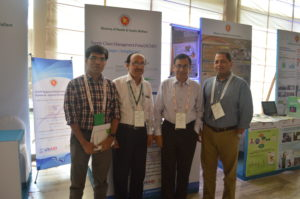 SIAPS Bangladesh team in front of the booth