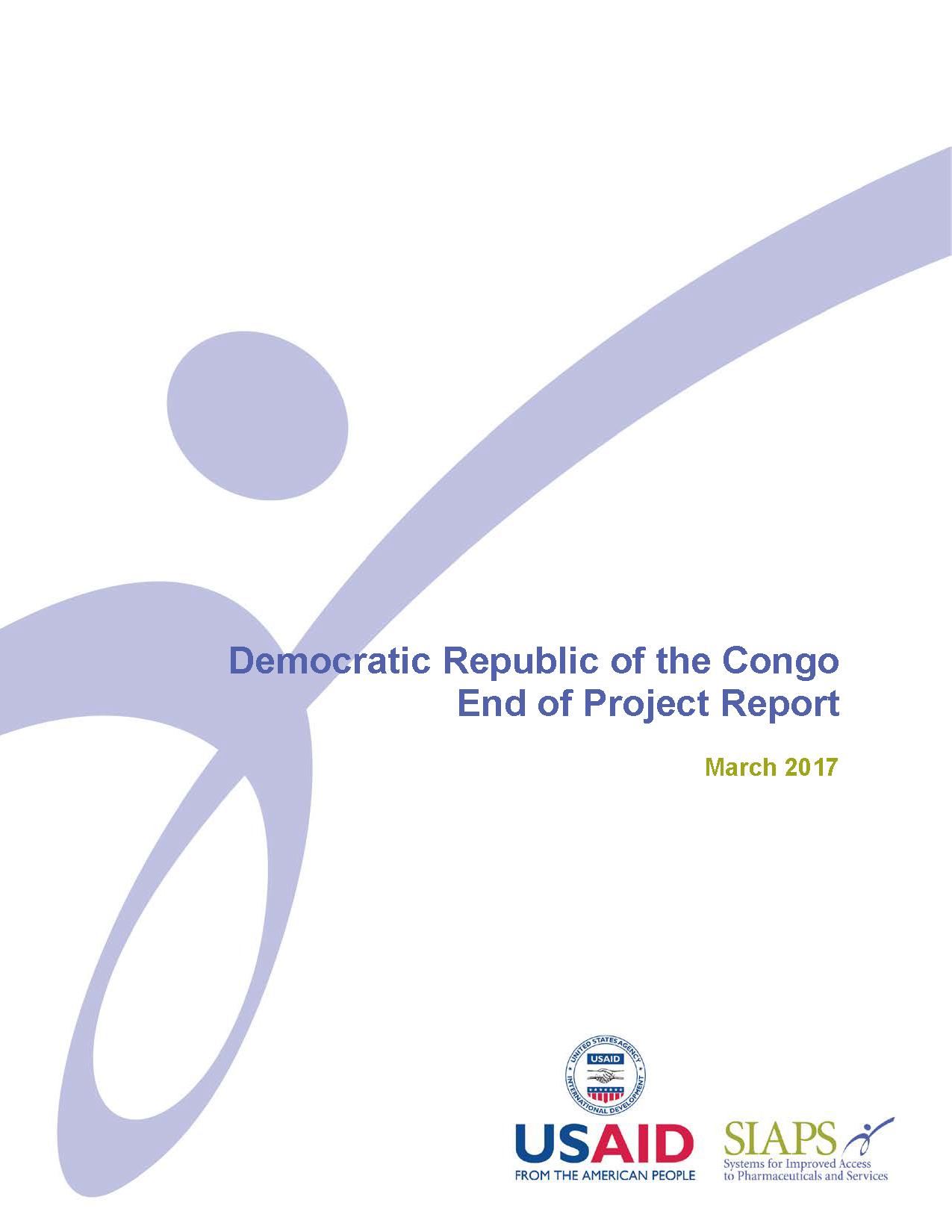 Democratic Republic of the Congo   SIAPS Program